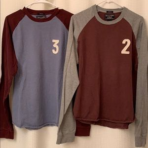 Abercrombie & Fitch large l/s muscle tees.